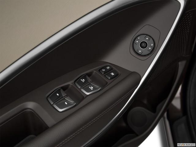Drivers side inside window controls.