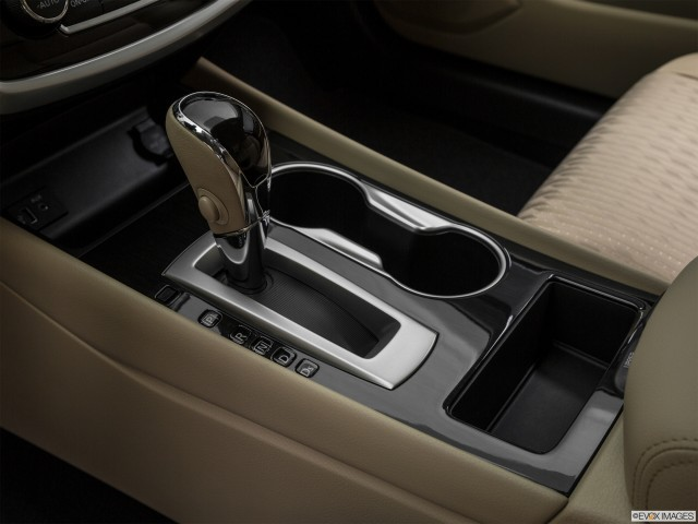 Gear shifter/center console.