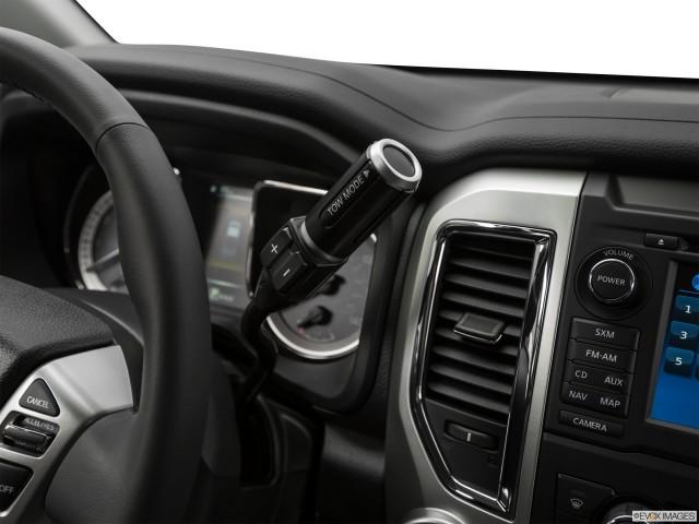 Gear shifter/center console.