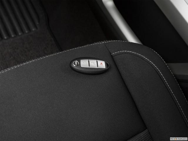 Key fob on drivers seat.