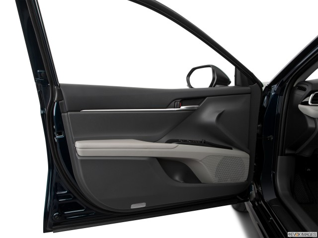 Inside of drivers side open door,window open.